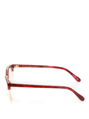 Stella Mccartney: glasses online - Chain detailed dark red eye glasses