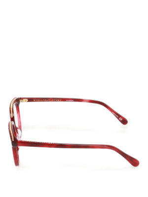 Stella Mccartney: glasses online - Chain detailed dark red glasses