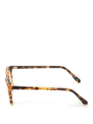 Stella Mccartney: glasses online - Chain detailed havana glasses
