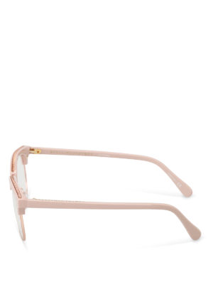 Stella Mccartney: glasses online - Chain detailed pink eye glasses