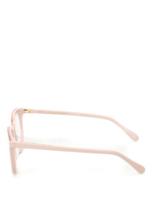 Stella Mccartney: glasses online - Chain detailed pink glasses