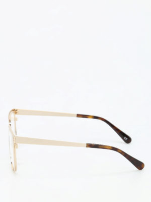 Stella Mccartney: glasses online - Gold-tone glasses