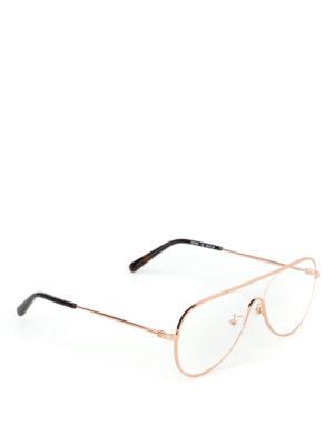 STELLA McCARTNEY: Occhiali - Occhiali da vista in metallo oro rosa