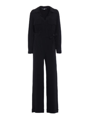 Stella Mccartney: jumpsuits - Black stretch cady jumpsuit
