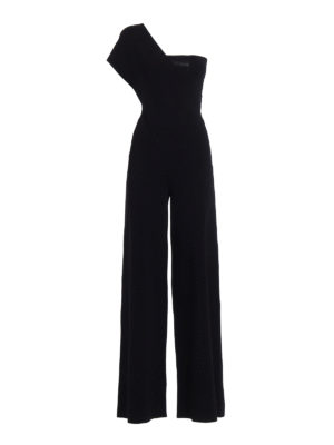 Stella Mccartney: jumpsuits - Jersey one-shoulder jumpsuit