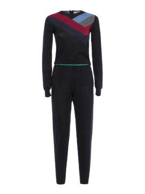 Stella Mccartney: jumpsuits - Knitted intarsia jumpsuit