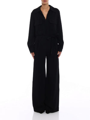 Stella Mccartney: jumpsuits online - Black stretch cady jumpsuit