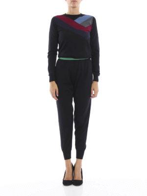 Stella Mccartney: jumpsuits online - Knitted intarsia jumpsuit