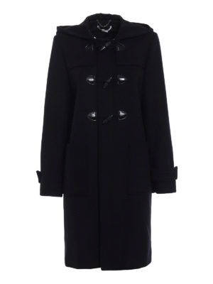 Stella Mccartney: knee length coats - Black wool blend duffle coat