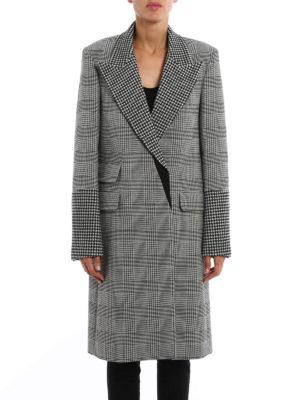 Stella Mccartney: knee length coats online - Prince of Wales wool coat