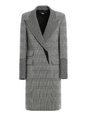 Stella Mccartney: knee length coats - Prince of Wales wool coat