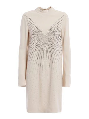 Stella Mccartney: knee length dresses - Cayla embellished cady dress