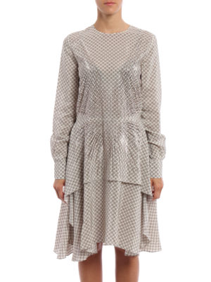 Stella Mccartney: knee length dresses online - Bella patterned silk dress