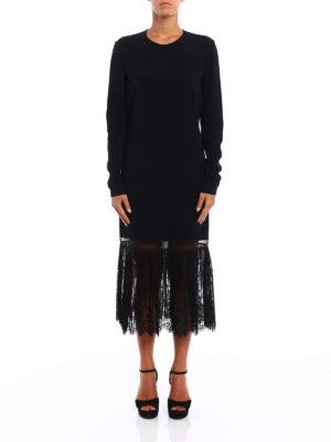 Stella Mccartney: knee length dresses online - Yvone lace insert midi dress