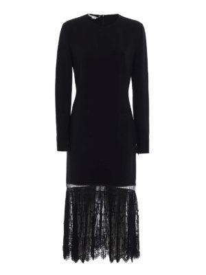 Stella Mccartney: knee length dresses - Yvone lace insert midi dress