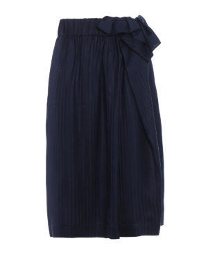 Stella Mccartney: Knee length skirts & Midi - Emmy lightweight silk pleated skirt
