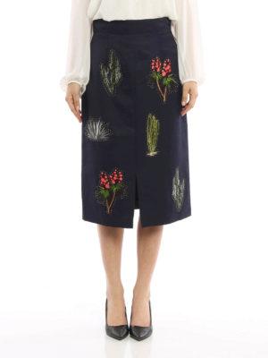 Stella Mccartney: Knee length skirts & Midi online - Embroidered midi skirt