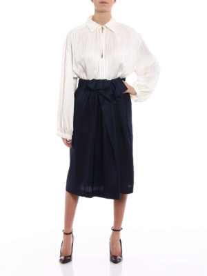 Stella Mccartney: Knee length skirts & Midi online - Emmy lightweight silk pleated skirt