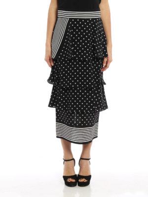 Stella Mccartney: Knee length skirts & Midi online - Polka dot and striped silk skirt