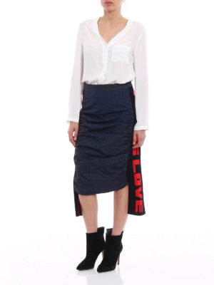 Stella Mccartney: Knee length skirts & Midi online - Straight skirt with knitted inserts