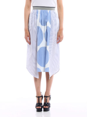 Stella Mccartney: Knee length skirts & Midi online - Striped poplin cotton skirt
