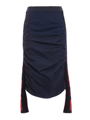 Stella Mccartney: Knee length skirts & Midi - Straight skirt with knitted inserts