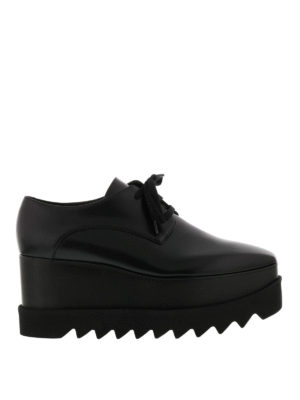 Stella Mccartney: lace-ups shoes - Elyse wood wedge black lace-ups