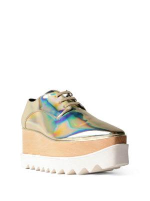 Stella Mccartney: lace-ups shoes online - Elyse platform metallic lace-ups
