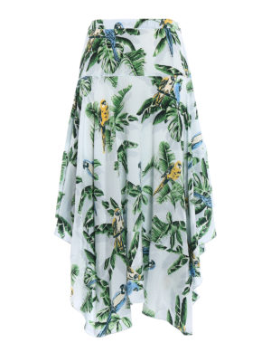 Stella Mccartney: Long skirts - Birds of Paradise silk long skirt