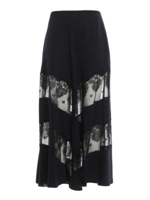 Stella Mccartney: Long skirts - Light silk long skirt