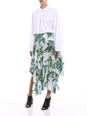 Stella Mccartney: Long skirts online - Birds of Paradise silk long skirt