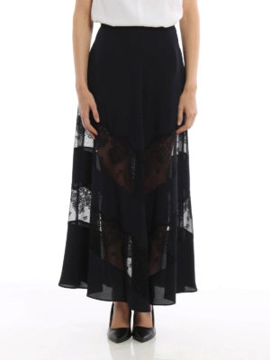 Stella Mccartney: Long skirts online - Light silk long skirt