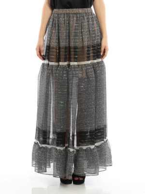 Stella Mccartney: Long skirts online - Silk printed long skirt