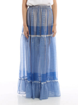 Stella Mccartney: Long skirts online - Silk printed long skirt