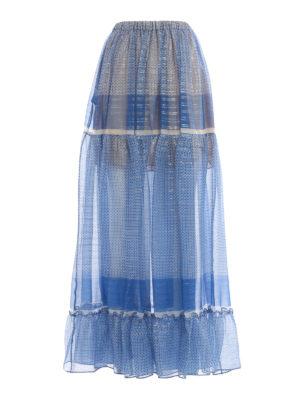 Stella Mccartney: Long skirts - Silk printed long skirt