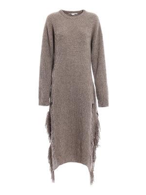Stella Mccartney: maxi dresses - Cashmere knitted long fringed dress