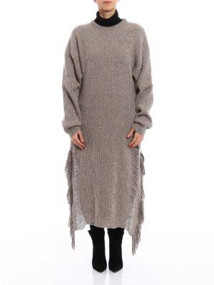 Stella Mccartney: maxi dresses online - Cashmere knitted long fringed dress