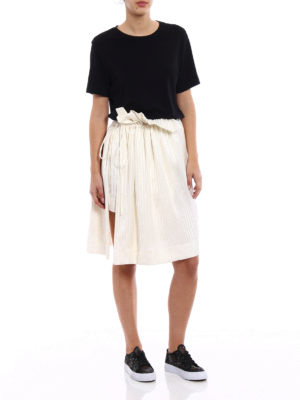 Stella Mccartney: mini skirts online - Shirting silk asymmetrical skirt