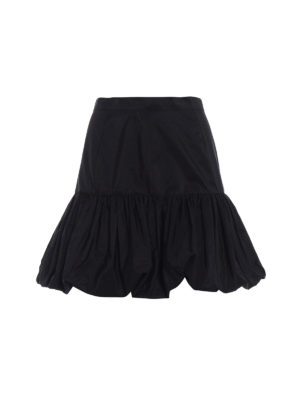 Stella Mccartney: mini skirts - Silk blend taffeta short skirt
