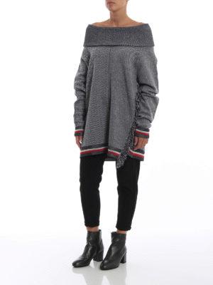 STELLA McCARTNEY: maglia collo a barchetta online - Pull off the shoulder spigato