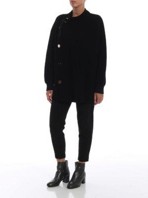 STELLA McCARTNEY: cardigan online - Cardigan in pesante lana con maxi bottoni