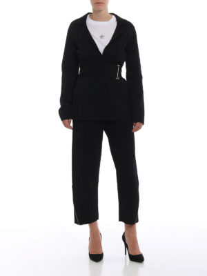 STELLA McCARTNEY: pantaloni casual online - Pantaloni in viscosa con zip sul fondo
