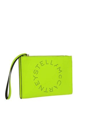 STELLA McCARTNEY: pochette online - Clutch Stella Logo giallo fluo