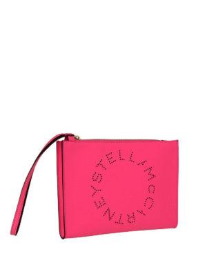 STELLA McCARTNEY: pochette online - Clutch Stella Logo fucsia
