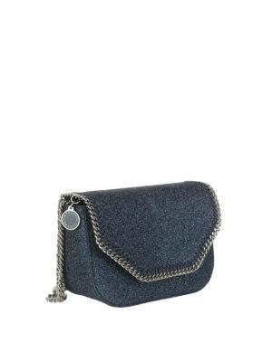 STELLA McCARTNEY: borse a tracolla online - Borsetta Falabella in glitter blu