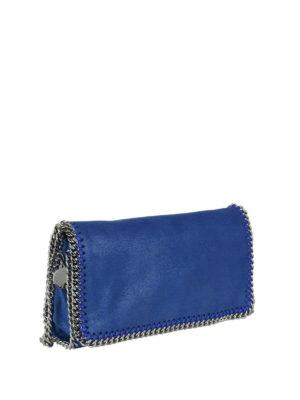 STELLA McCARTNEY: borse a tracolla online - Borsa Falabella in shaggy deer blue elettrico