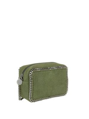 STELLA McCARTNEY: borse a tracolla online - Tracolla Falabella verde oliva