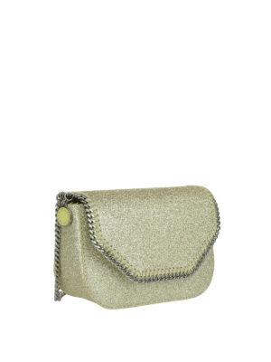 STELLA McCARTNEY: borse a tracolla online - Borsetta Falabella in glitter oro