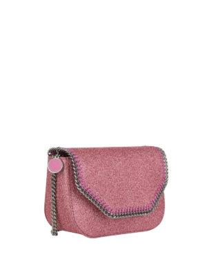 STELLA McCARTNEY: borse a tracolla online - Borsetta Falabella in glitter rosa