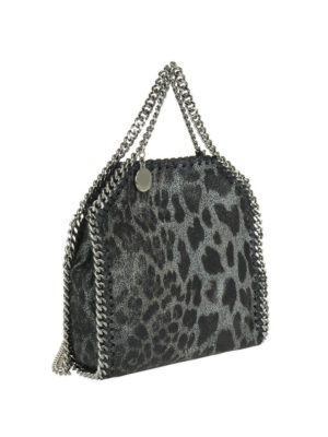 STELLA McCARTNEY: borse a tracolla online - Falabella Tiny in shaggy deer animalier